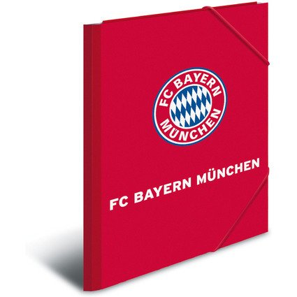 "HERMA Eckspannermappe ""FC Bayern München"", DIN A3, PP, rot"