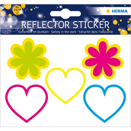 """HERMA Reflektorsticker """"Herzen + Blumen"""""""