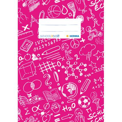 """HERMA Heftschoner """"Schoolydoo"""", DIN A5, aus PP, pink"""