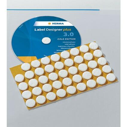 HERMA CD-Fixierungspunkte, selbstklebend, Durchmesser: 15 mm