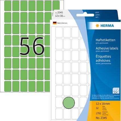 HERMA Vielzweck-Etiketten, 12 x 18 mm, grün, Großpackung