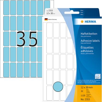HERMA Vielzweck-Etiketten, 12 x 30 mm, blau, Großpackung