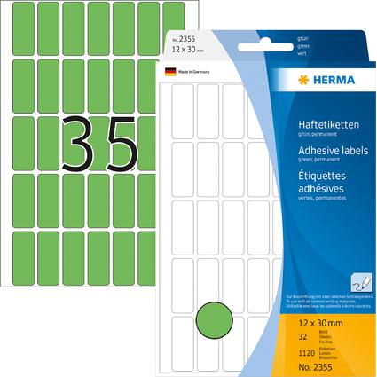 HERMA Vielzweck-Etiketten, 12 x 30 mm, grün, Großpackung