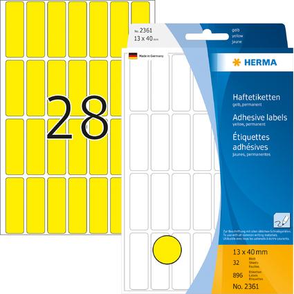 HERMA Vielzweck-Etiketten, 13 x 40 mm, gelb, Großpackung