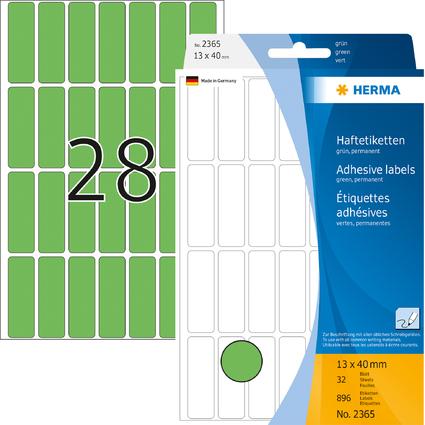 HERMA Vielzweck-Etiketten, 13 x 40 mm, grün, Großpackung