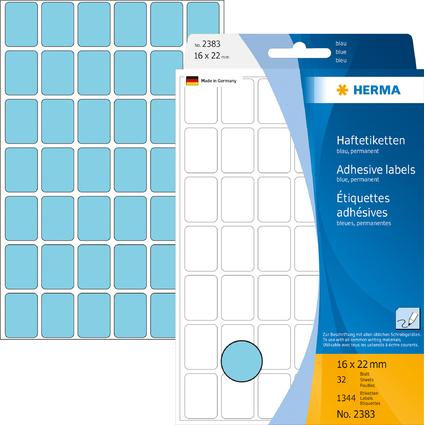 HERMA Vielzweck-Etiketten, 16 x 22 mm, blau, Großpackung