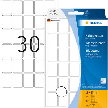HERMA Vielzweck-Etiketten, 19 x 27 mm, weiß, Großpackung