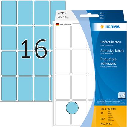 HERMA Vielzweck-Etiketten, 25 x 40 mm, blau, Großpackung