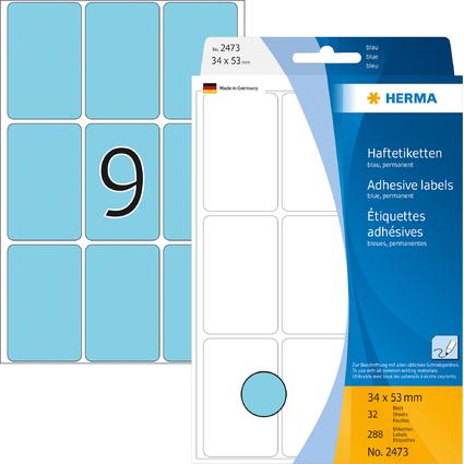 HERMA Vielzweck-Etiketten, 34 x 53 mm, blau, Großpackung