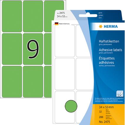 HERMA Vielzweck-Etiketten, 34 x 53 mm, grün, Großpackung