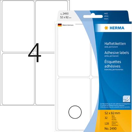 HERMA Vielzweck-Etiketten, 52 x 82 mm, weiß, Großpackung