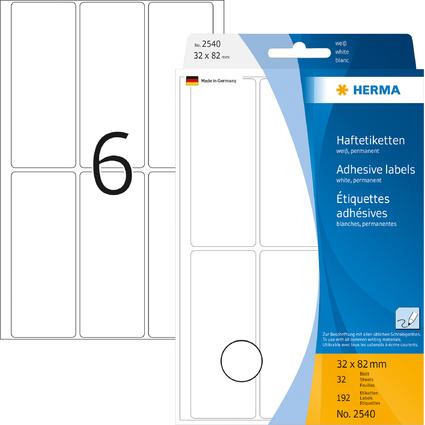 HERMA Vielzweck-Etiketten, 32 x 82 mm, weiß, Großpackung