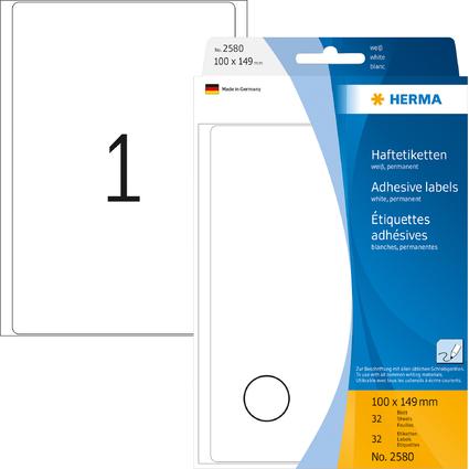 HERMA Vielzweck-Etiketten, 100 x 149 mm, weiß, Großpackung