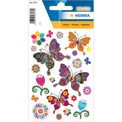 "HERMA Sticker MAGIC ""Schmetterling"", Glitterfolie"