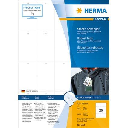 HERMA Warenanhänger SPECIAL, 70 x 41 mm, weiß