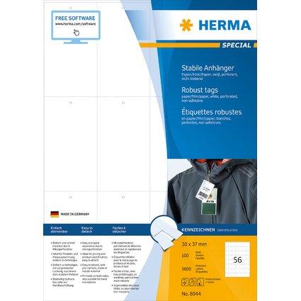 HERMA Warenanhänger SPECIAL, 93,5 x 52,5 mm, weiß