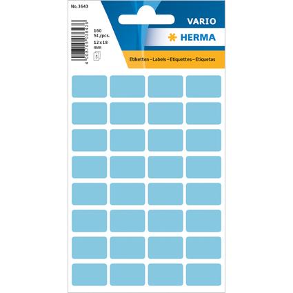 HERMA Vielzweck-Etiketten, 12 x 19 mm, blau, Kleinpackung