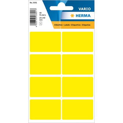 HERMA Vielzweck-Etiketten, 26 x 40 mm, gelb, Kleinpackung