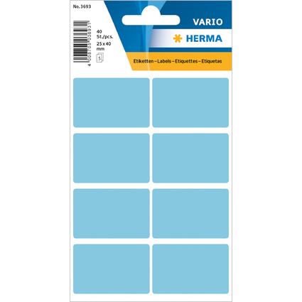 HERMA Vielzweck-Etiketten, 26 x 40 mm, blau, Kleinpackung