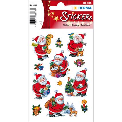 """HERMA Weihnachts-Sticker DECOR """"Lustiger Nikolaus"""", Papier"""
