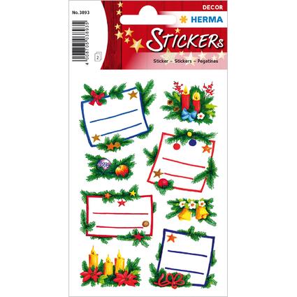 """HERMA Weihnachts-Sticker DECOR """"Tannengestecke"""", Widmung"""