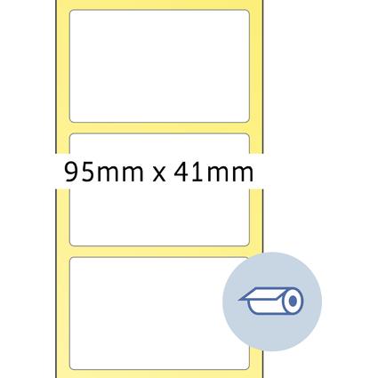 HERMA Rollen-Etiketten, 95 x 41 mm, weiß
