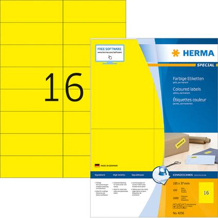 HERMA Universal-Etiketten SPECIAL, 105 x 37 mm, gelb
