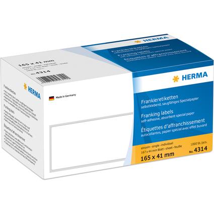 HERMA Frankier-Etiketten, 165 x 41 mm, einzeln, weiß