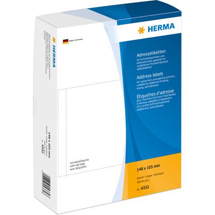 HERMA Adress-Etiketten, 148 x 105 mm, einzeln, weiß