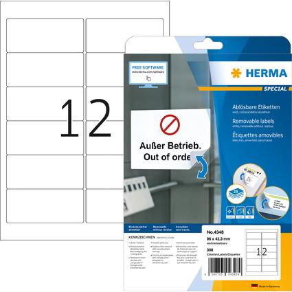 HERMA Universal-Etiketten SPECIAL, 96 x 42,3 mm, weiß