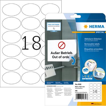 HERMA Universal-Etiketten SPECIAL, 63,5 x 42,3 mm, weiß