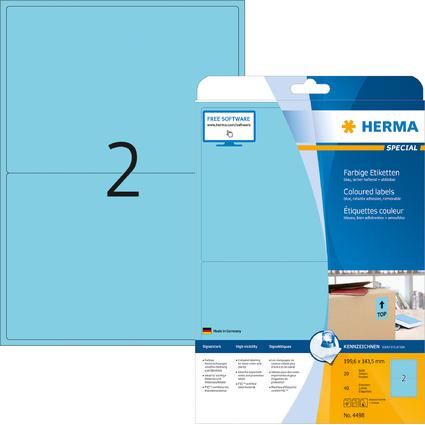 HERMA Universal-Etiketten SPECIAL, 199,6 x 143,5 mm, blau