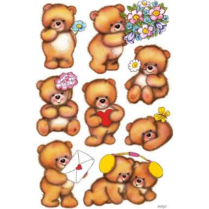 """HERMA Sticker DECOR """"Bären mit Blumen"""""""