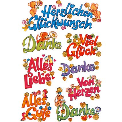 """HERMA Sticker DECOR """"Glückwünsche"""""""