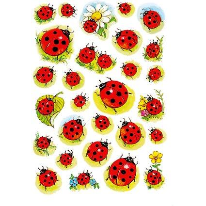 """HERMA Sticker DECOR """"Marienkäfer und Blume"""""""