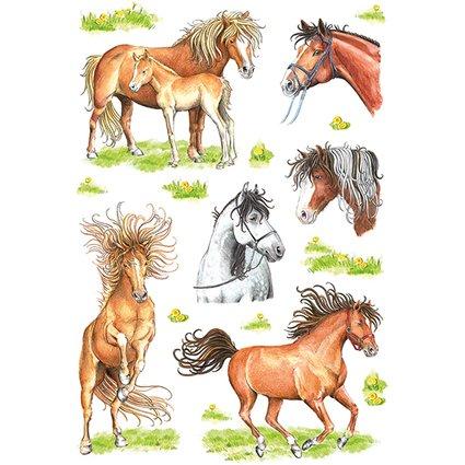 """HERMA Sticker DECOR """"Gezeichnete Pferde"""""""