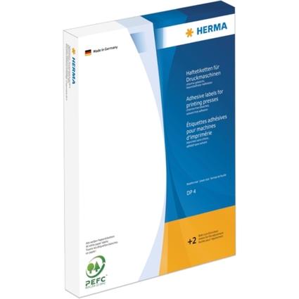 HERMA Haftetiketten DP4, 34 x 75 mm, weiß,für Druckmaschinen