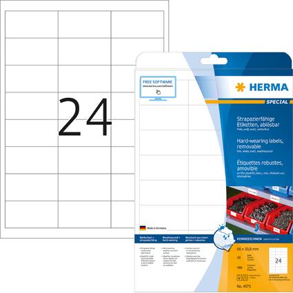 HERMA Folien-Etiketten SPECIAL, 66 x 33,8 mm, ablösbar