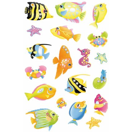 "HERMA Sticker MAGIC ""Fische"", Jewel"