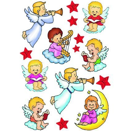 """HERMA Weihnachts-Sticker DECOR """"Engel"""""""