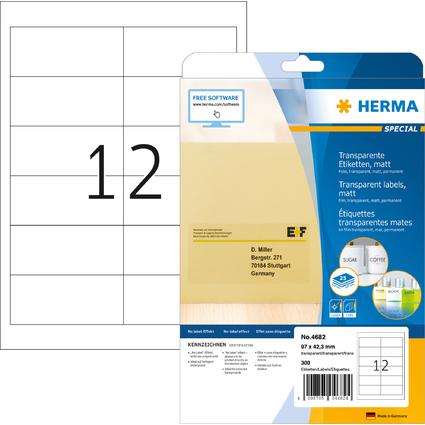 HERMA Folien-Etiketten SPECIAL, 97,0 x 42,3 mm, transparent