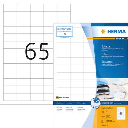 HERMA Inkjet-Etiketten SPECIAL, 38,1 x 21,2 mm, weiß
