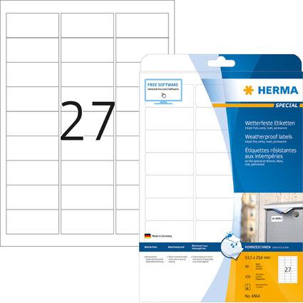 HERMA Folien-Etiketten SPECIAL, 63,5 x 29,6 mm, wetterfest