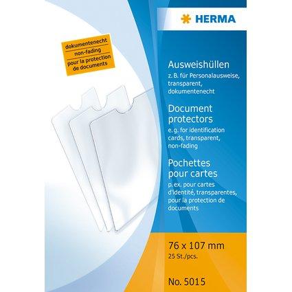 HERMA Ausweishülle, PP, 1-fach, 0,14 mm, Format: 76 x 107 mm