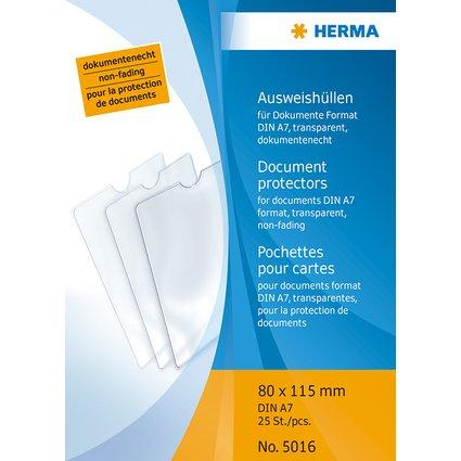 HERMA Ausweishülle, PP, 1-fach, 0,14 mm, Format: 80 x 115 mm