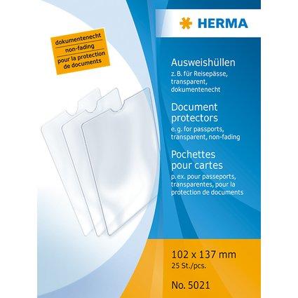 HERMA Ausweishülle, PP, 1-fach, 0,14 mm, Format: 102 x 137mm