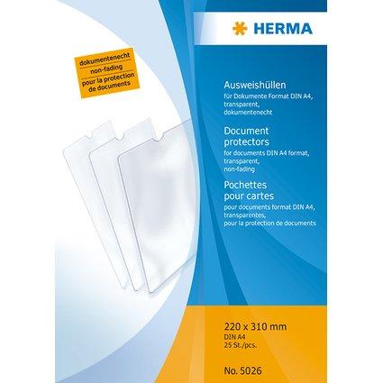 HERMA Ausweishülle, PP, 1-fach, 0,14 mm, 220 x 310 mm