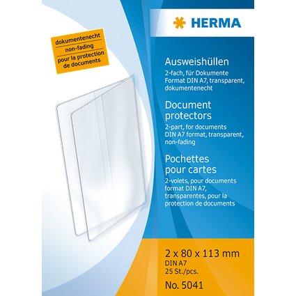 HERMA Ausweishülle, PP, 2-fach, 0,14 mm, Format: 80 x 113 mm