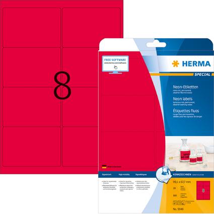 HERMA Universal-Etiketten SPECIAL, 99,1 x 67,7 mm, neon-rot