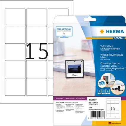 HERMA ZIP-Disketten-Etiketten SPECIAL, 59 x 50 mm, weiß
